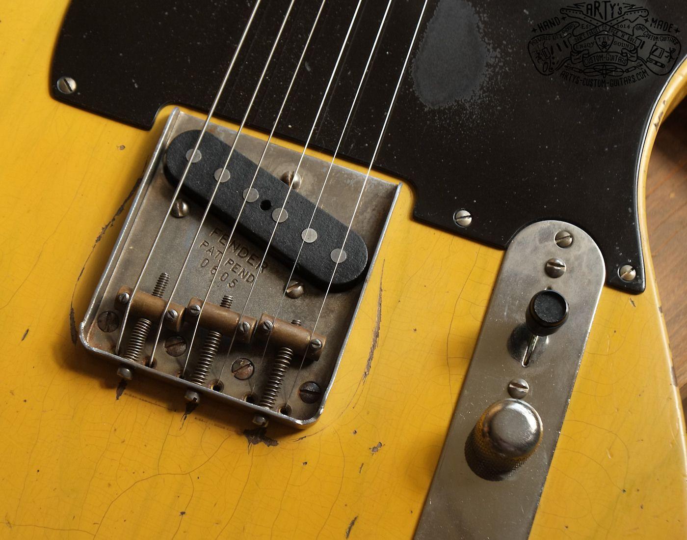 Blackguard Telecaster 1950 Arty S Relic Repro Broadcaster Nocaster Blackguard Tele Www Artys Custom Guitars Com Fender Vintage Telecaster Relic