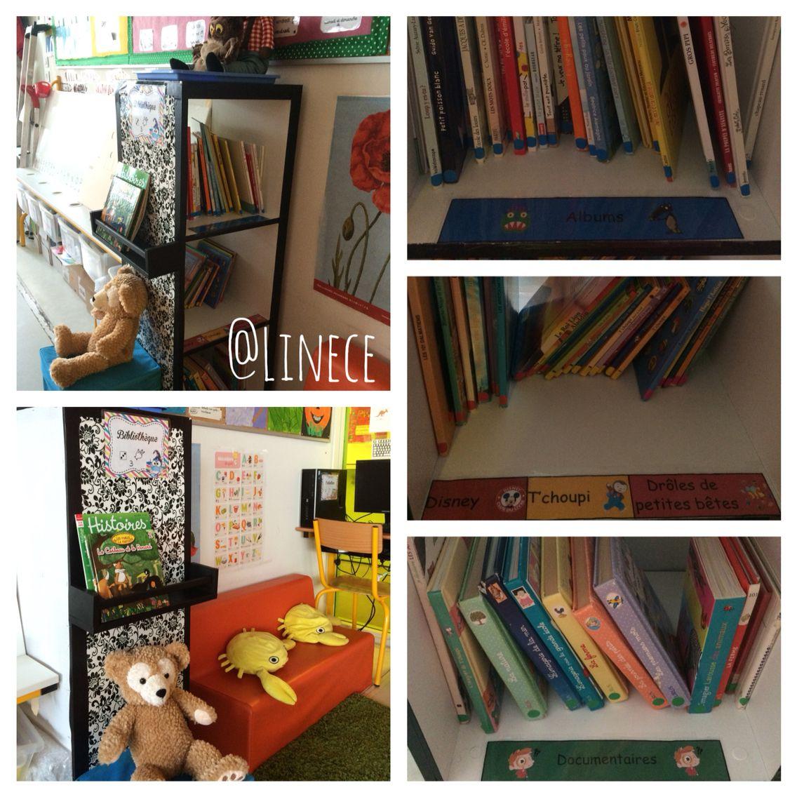 mon coin biblioth que cosi et organis avec des gommettes par th me une tag re pices ikea. Black Bedroom Furniture Sets. Home Design Ideas