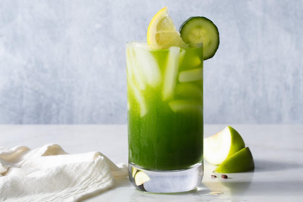 Cucumber Apple Tonic With Turmeric And Kale Recipe Sun Basket Kale Tonic Recipe Apple Syrup Recipe Juicing Recipes
