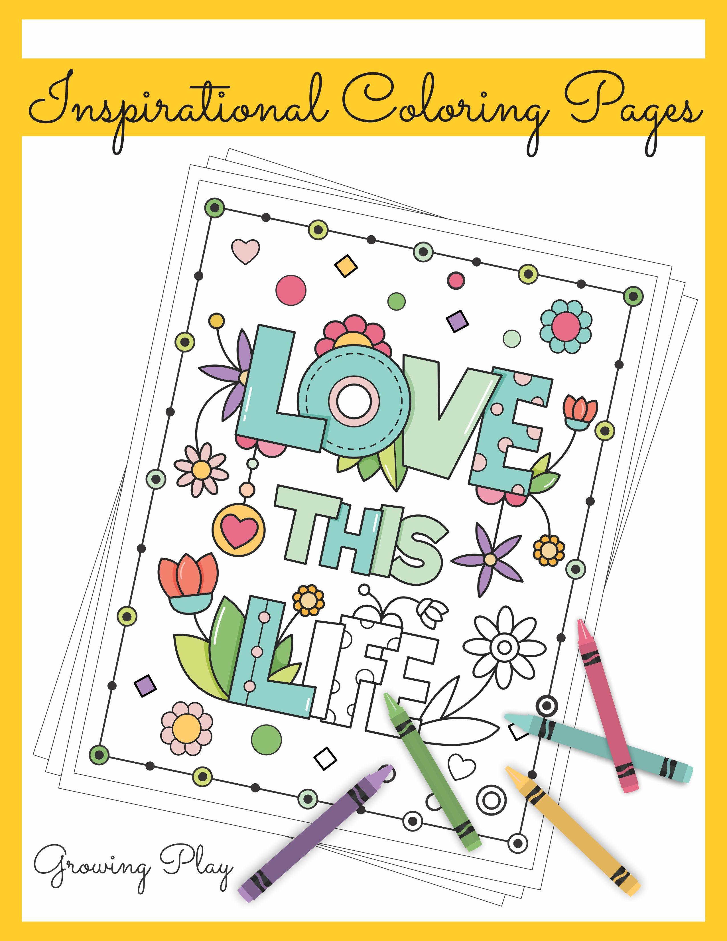 Inspirational Coloring Book