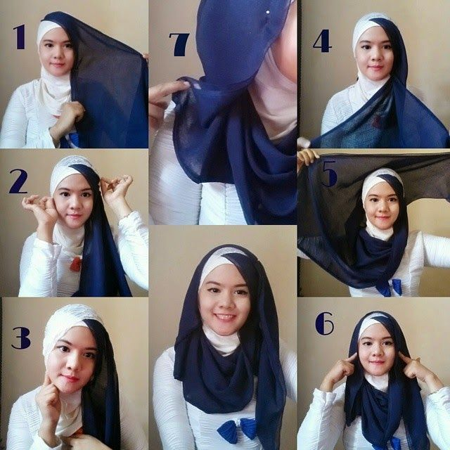 Hijab Style For Teenager Tutorial 4 Women S Hijab Hijab Fashion Hijab Tutorial Hijab