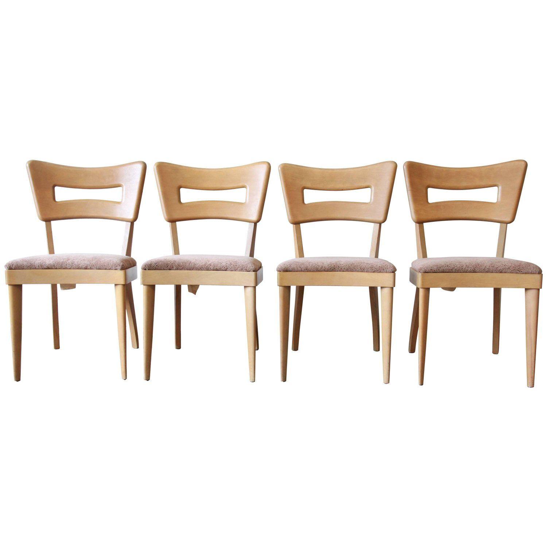 Heywood Wakefield Mid Century Modern Dogbone Dining Chairs Set