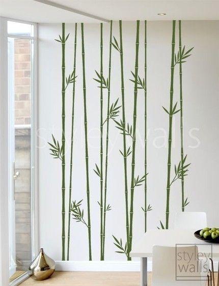 100inch Tall Bamboo Stalks - Vinyl Wall Decal Decoración - decoracion con bambu
