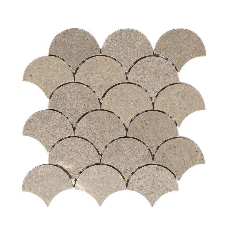 Decor8 230 x 245 x 6mm Cinder Grey Fan Polished Marble