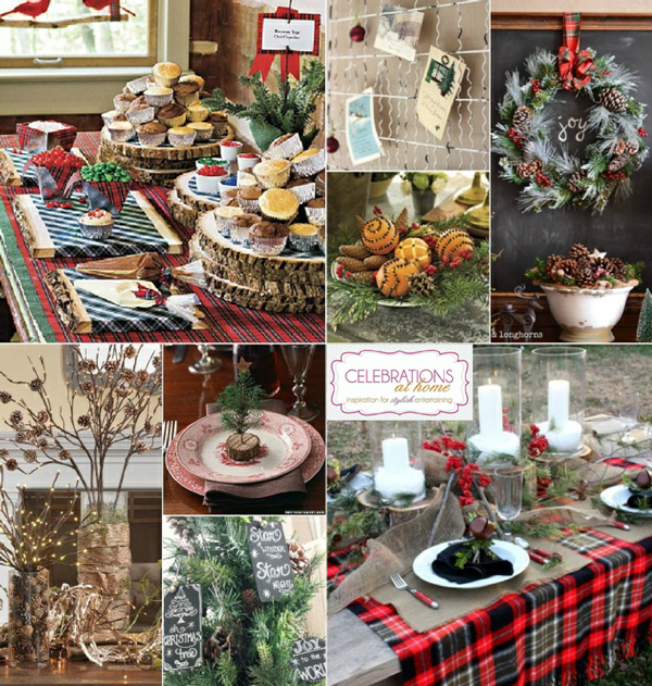 Exceptional Home Christmas Party Ideas Part - 8: Rustic Christmas Party Ideas By Celebrations At Home