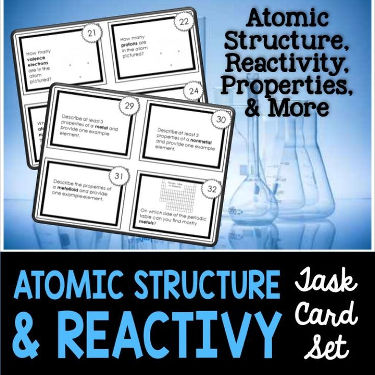 Periodic Table reactivity of atoms in the periodic table : Chemistry Task Cards #1: Atomic Structure, Reactivity ...