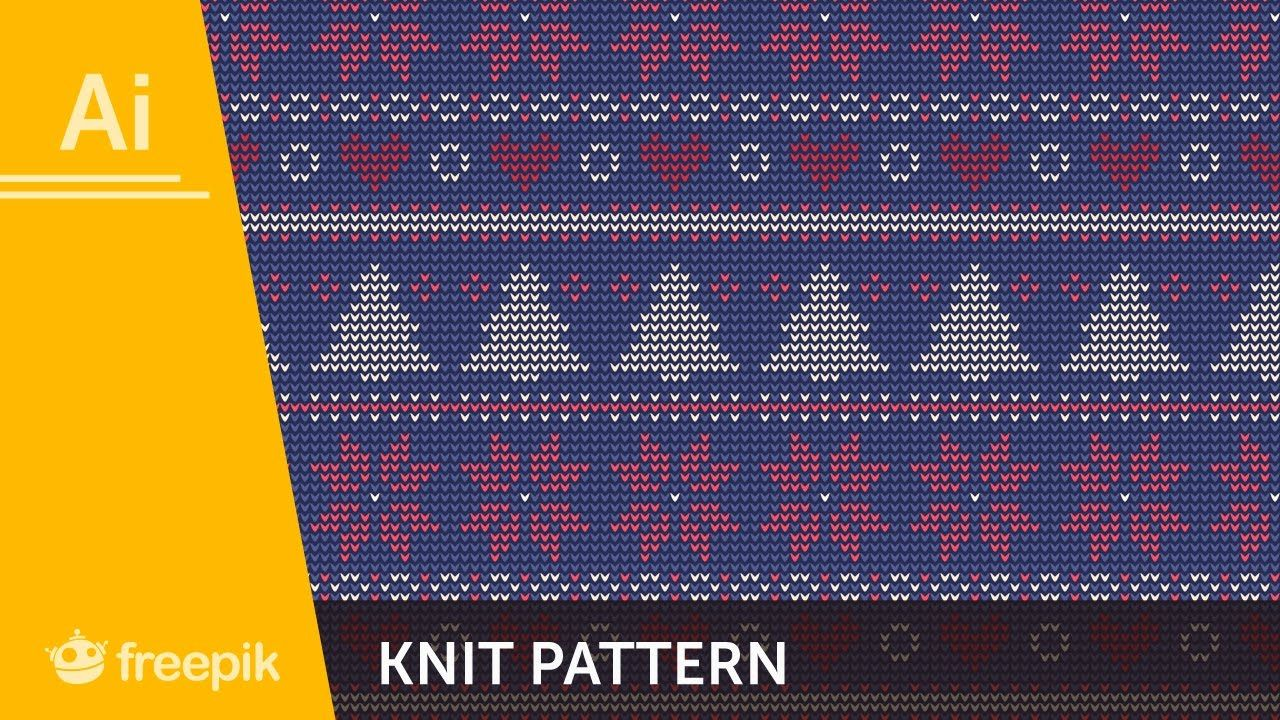 How to create a knit pattern in adobe illustrator alba zapata how to create a knit pattern in adobe illustrator alba zapata freepik youtube bankloansurffo Images