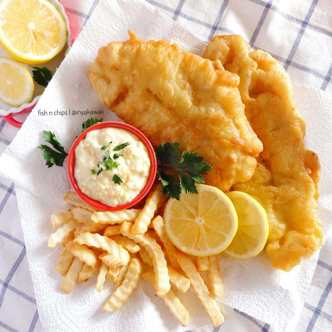 Good Morning Fish N Chips Lengkap Dgn Tartar Sauce Kesukaan Kita Semuaaaa Resep