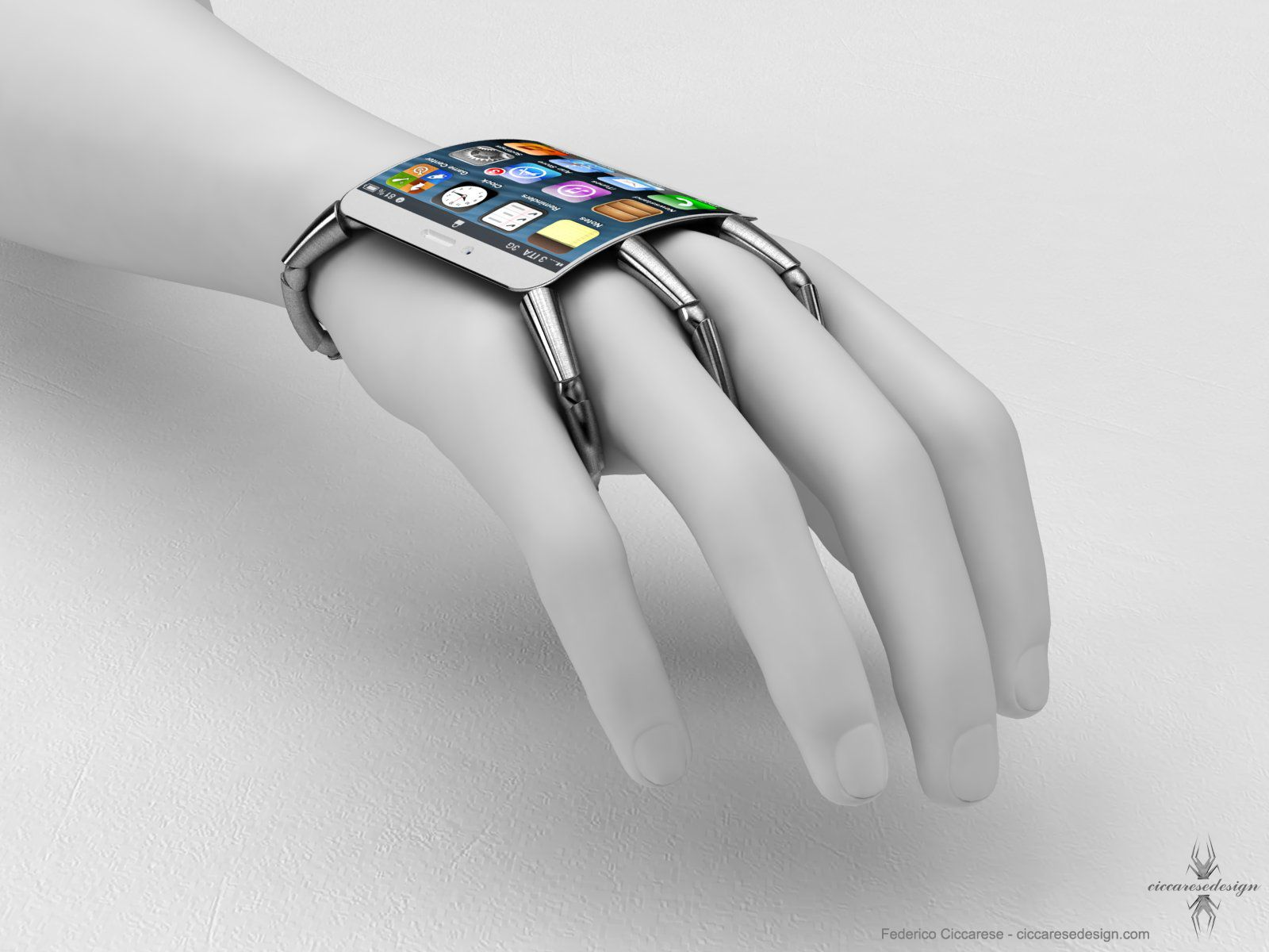 Concept design for iPhone glove thing Wearable tech