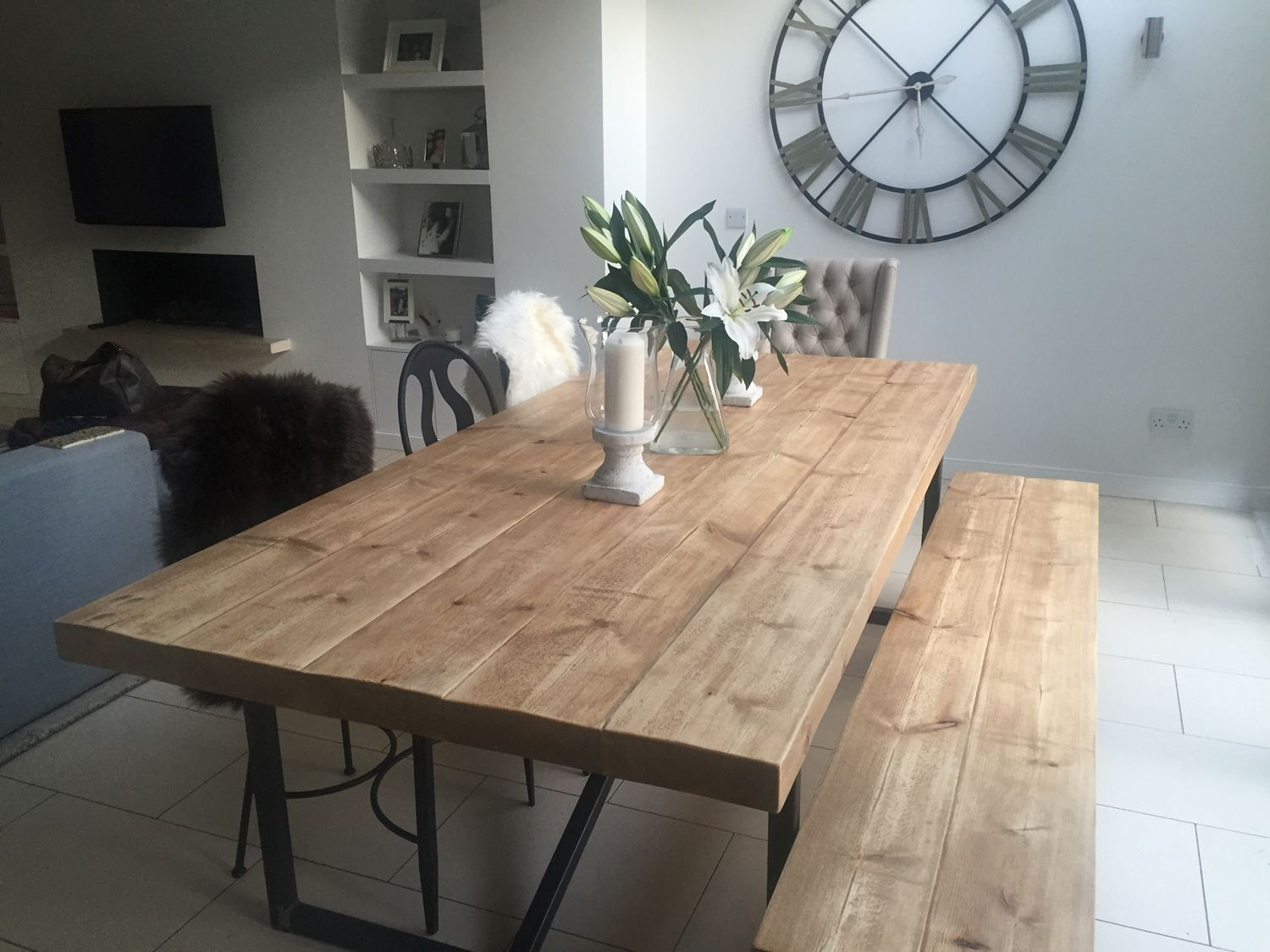 Amazing Industrial Mill Style Large Reclaimed Wood Dining Table Theyellowbook Wood Chair Design Ideas Theyellowbookinfo