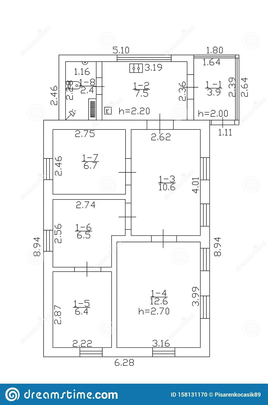 Floorplan Illustration Floor Plan Autocad Stock House Plans Free House Design How To Plan