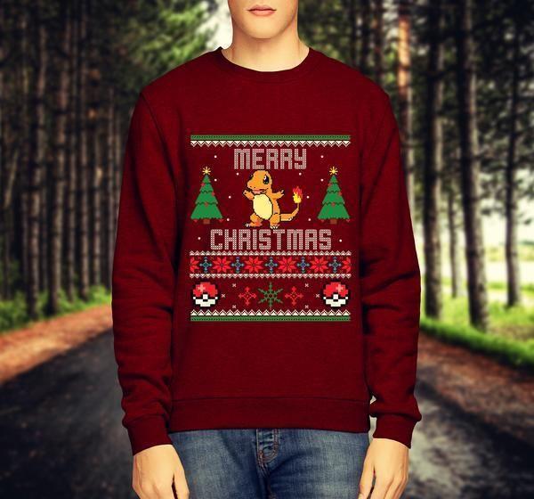 Pokemon Charmander Mens Christmas Jumper Merry Xmas Gift Novelty Sweatshirt /Top #Unbranded #Jumpers