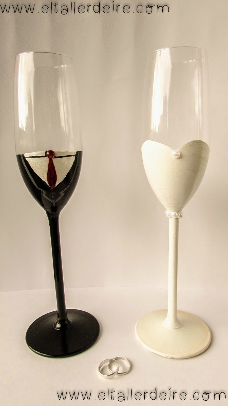 copas de champagne para novios bodas pinterest
