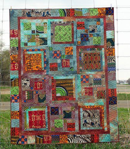 African Impromptu Quilt Modern Quilts Pinterest Blog