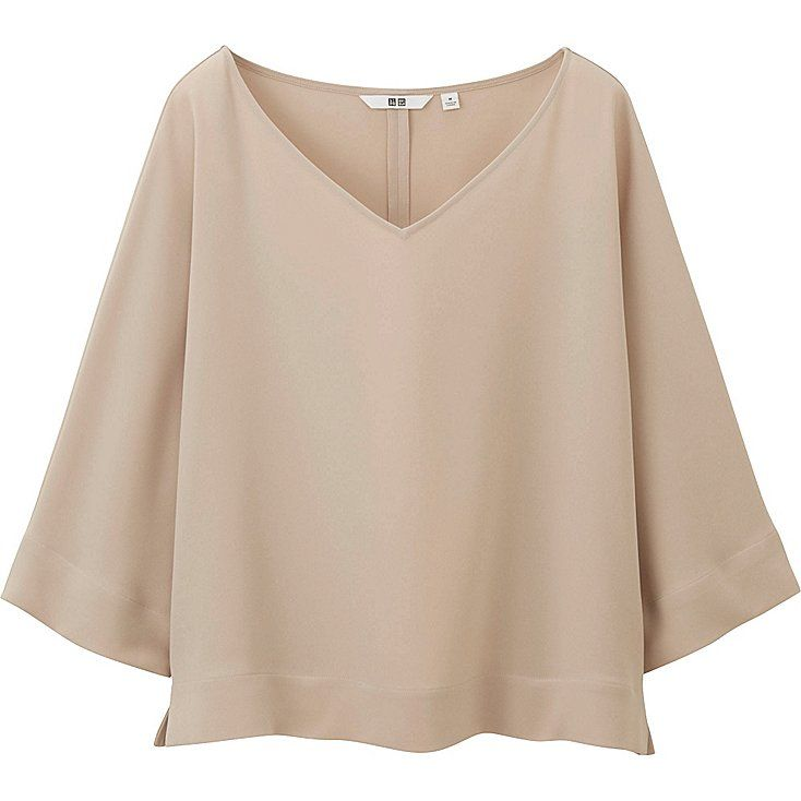 2067334ec12 Women drape 3/4 sleeve blouse | Costura | Blouse, Shirt blouses, Sleeves