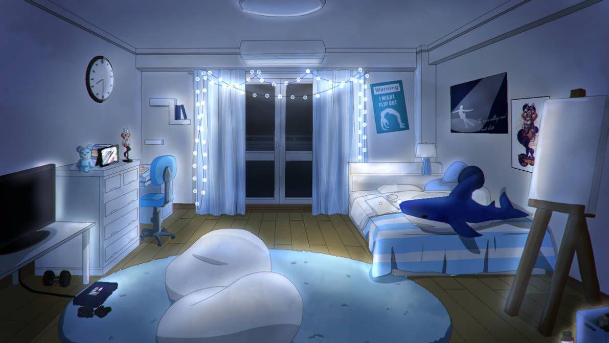 [mha oc] kaori dorm room at night by kaori0w0 on DeviantArt