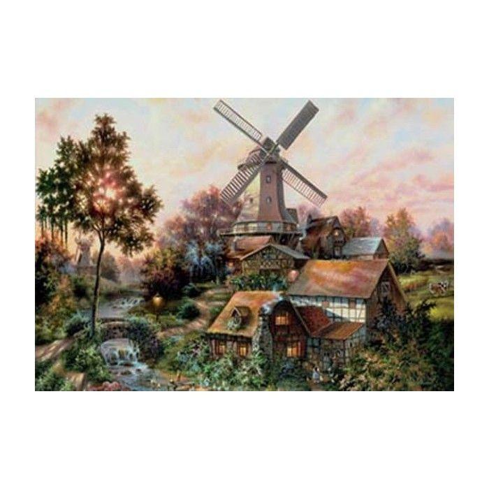 Огни родного дома (художник Клаус Штрубель) Раскраска ...