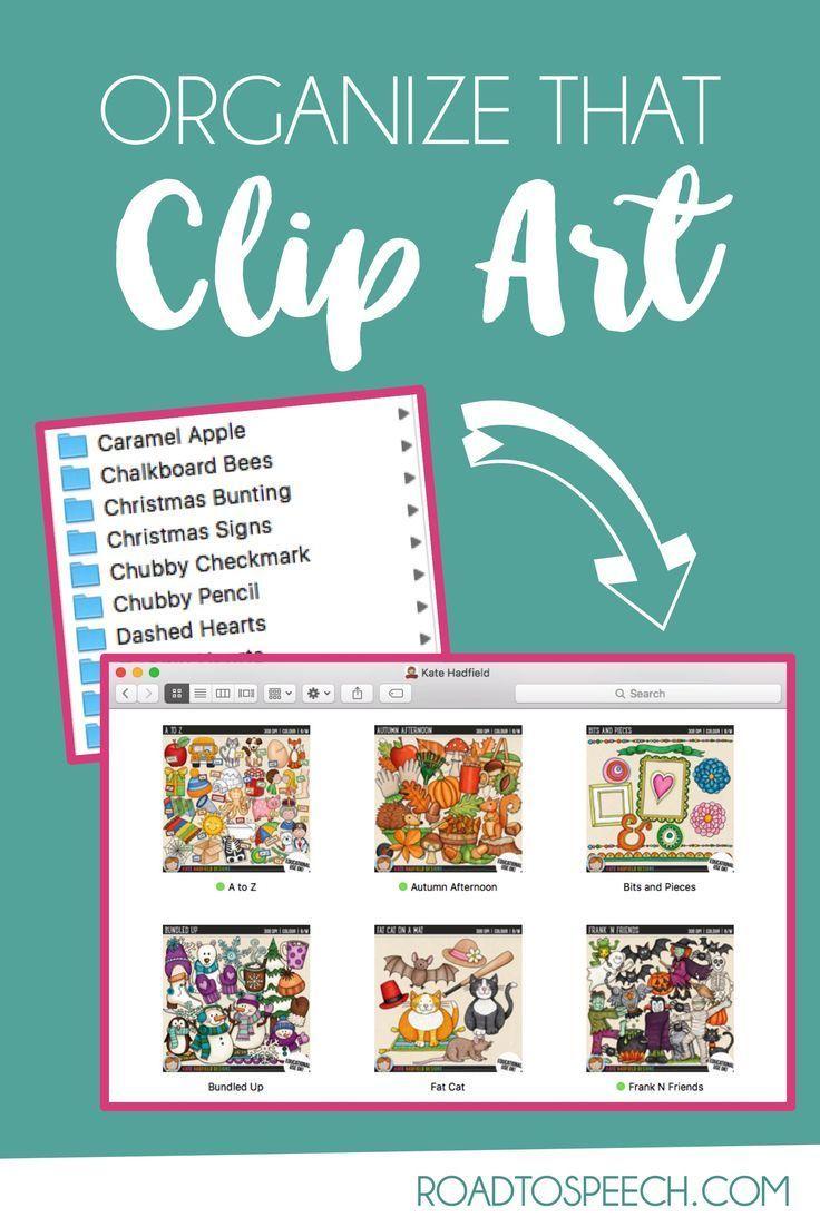 Quick & Easy Clip Art Organization Teacher created