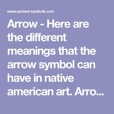 Arrow Here Are The Different Meanings That The Arrow Symbol Can