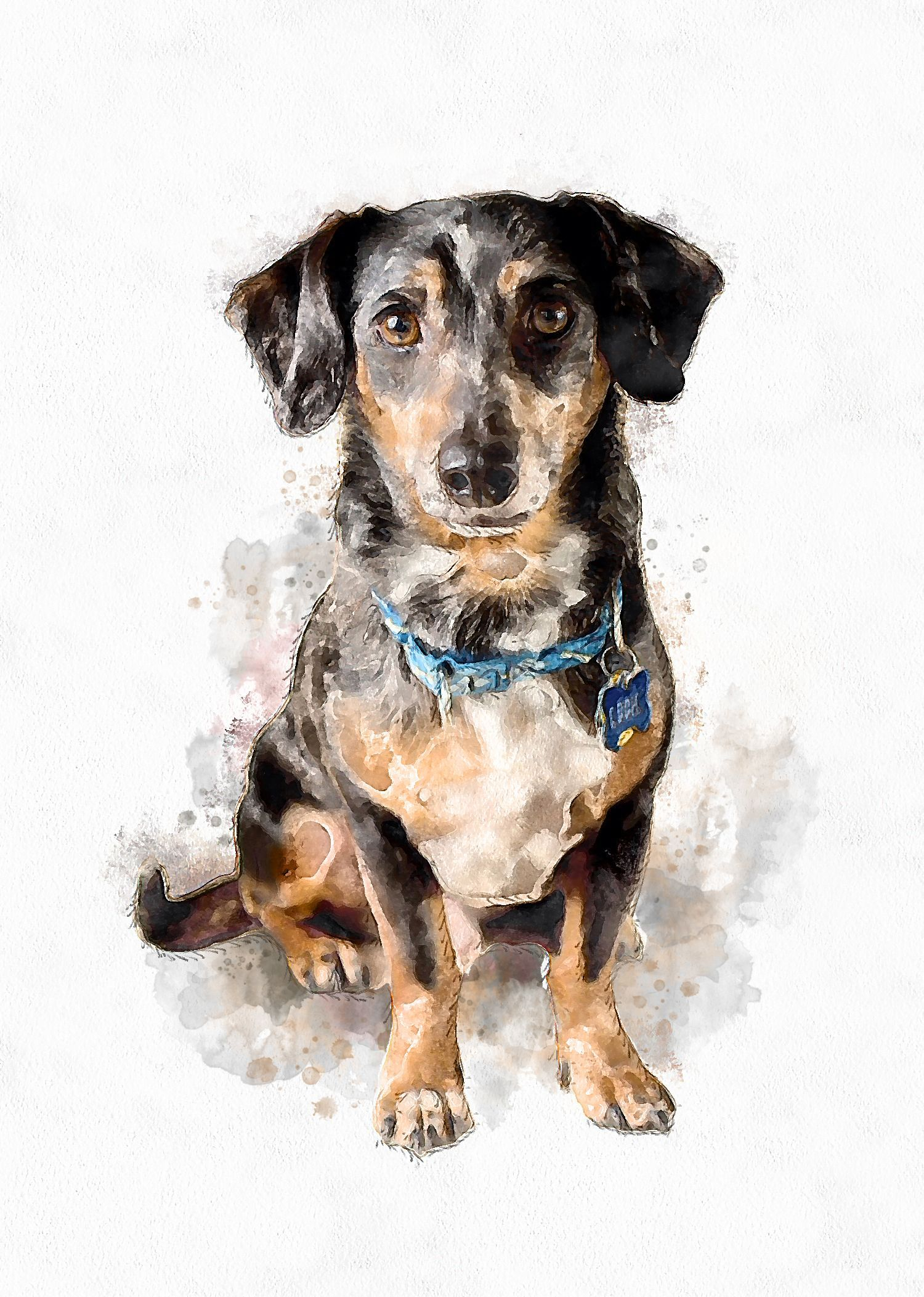 100 Easy Watercolor Painting Ideas For Beginners Watercolor Dog