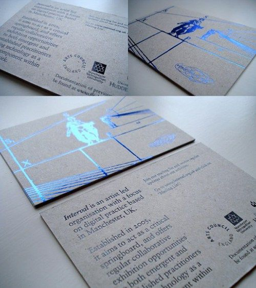 Blue foil work pinterest corporate invitation brochures and business cards reheart Gallery