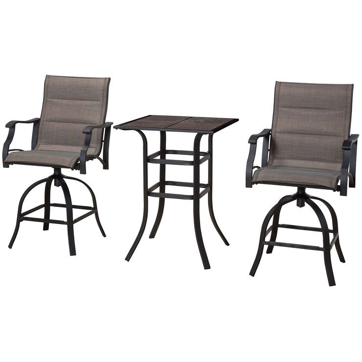 Malibu High Table Chat Set 3pc High Table Outdoor Dining