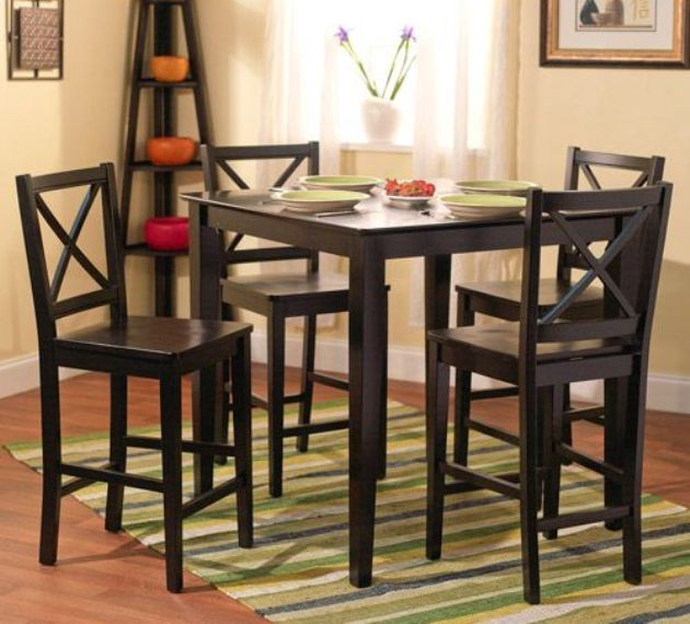 Tall Square Kitchen Table And Chairs Tall Dining Table Dining