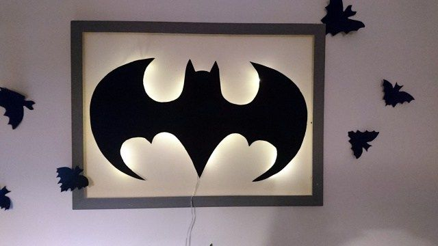 applique murale batman diy batman appliques murales et format raisin. Black Bedroom Furniture Sets. Home Design Ideas