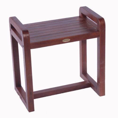 20 Ergonomic Teak Spa Stool With Lift Aide Arms By Decoteak 99 95 Indoor Outdoor Deep Penetrating Stain For Water Mold Mildew Teak Shower Stool Teak Stool