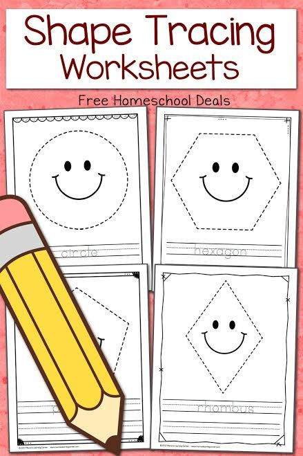Free Shape Tracing Worksheets Instant Download Shape Tracing Worksheets Preschool Tracing Shapes Preschool Tracing shapes worksheets for