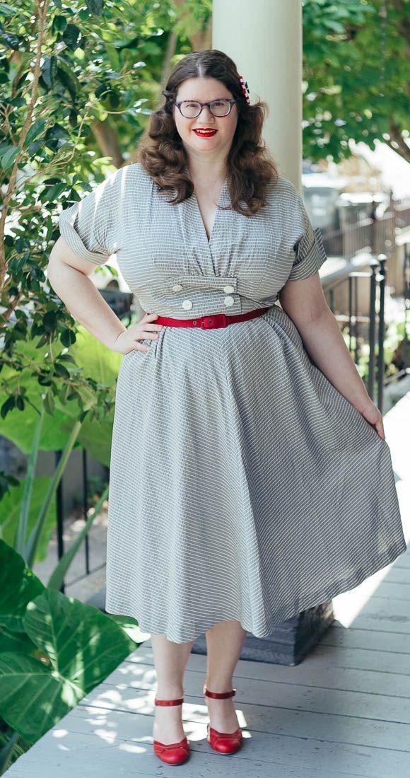 Plus Size Seersucker Dress Ibovnathandedecker