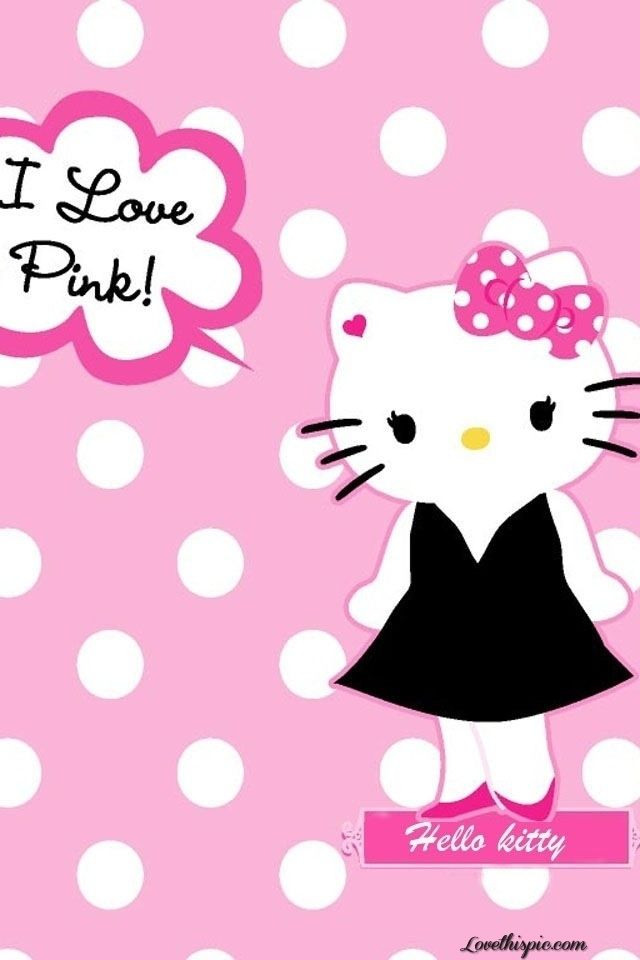 feaf4b98c79e Hello Kitty Loves Pink! love girly cute pink hello kitty i love pink ...