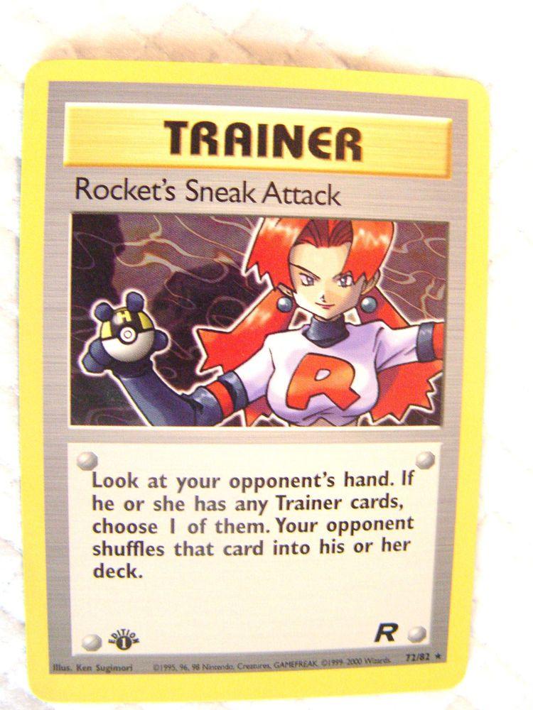 POKEMONTRAINERTEAM ROCKET1ST CARD