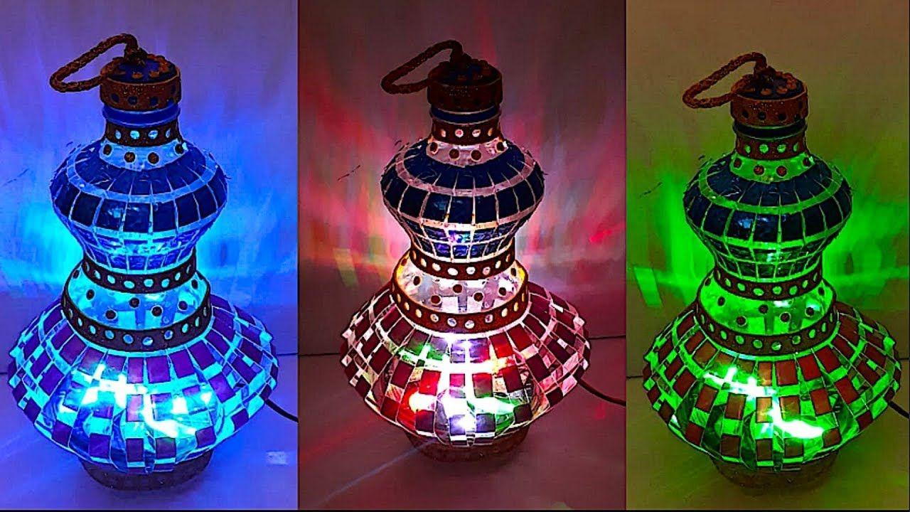 Diy Lantern Tealight Holder From Plastic Bottle Part 2 Diy Christm Diy Lanterns How To Make Lanterns Christmas Decor Diy