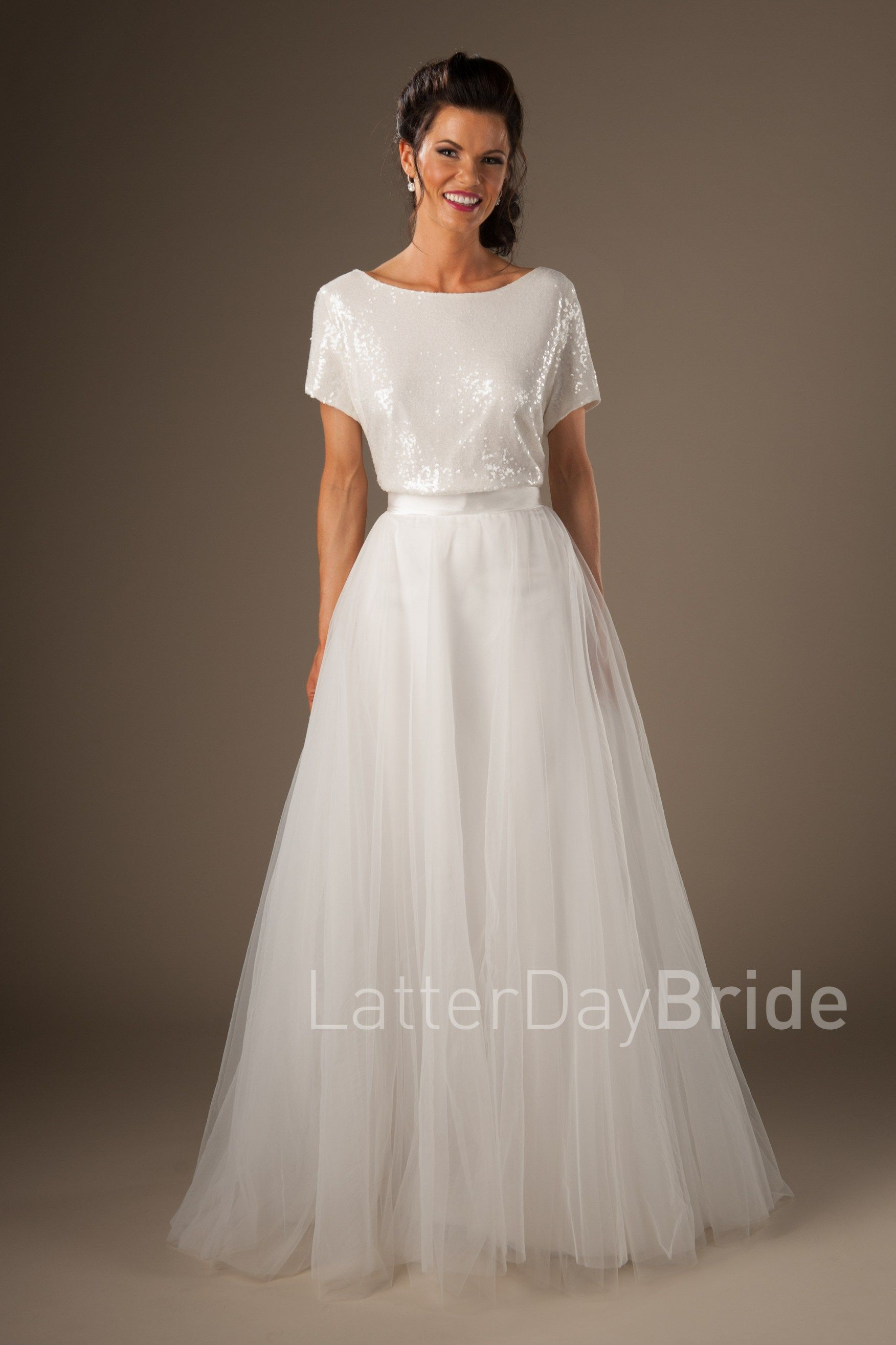 modest wedding dresses with short sleeves lds wedding