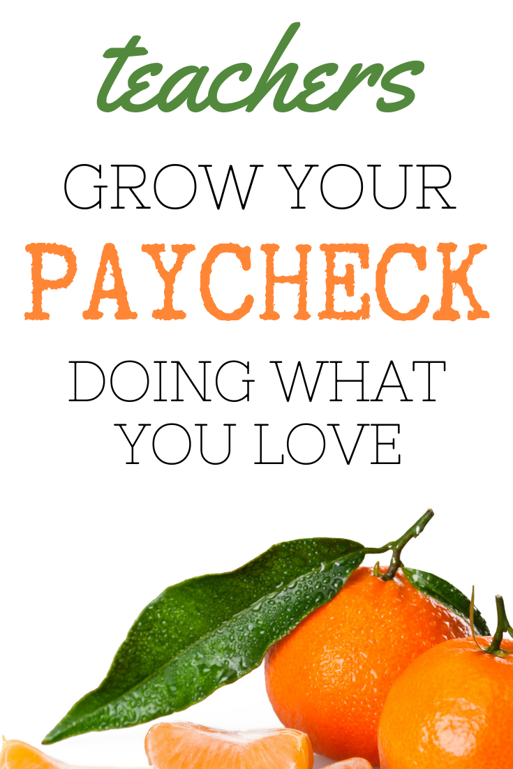 teachers grow that paycheck while coaching  tutoring