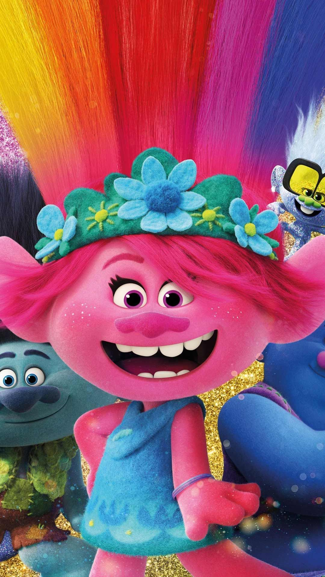 Trolls World Tour Wallpaper Hd Phone Backgrounds Movie Poster Characters For Iphone Android Screen Disney Phone Wallpaper Movie Wallpapers Disney Wallpaper