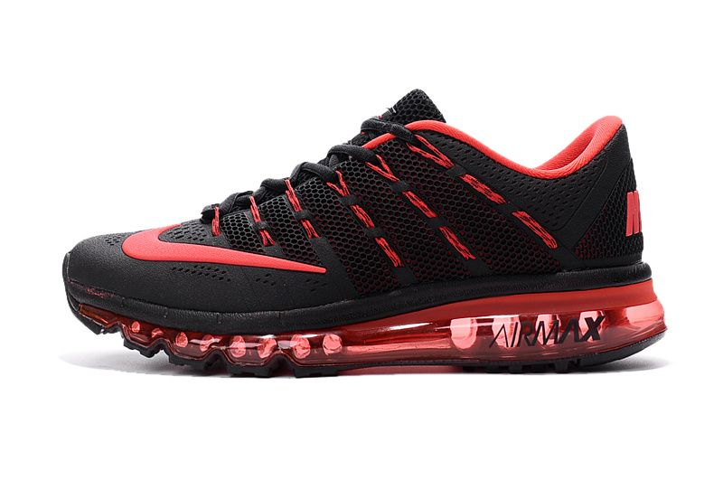 check out f8118 37570 Nike Air Max 2016 Femme   Homme Noir rouge Pas Cher