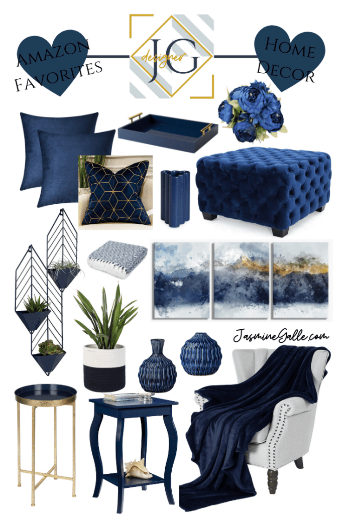 Colorful Home Decor Amazon Favorites Jasmine Galle Blue Living Room Decor Blue Living Room Blue And Gold Living Room