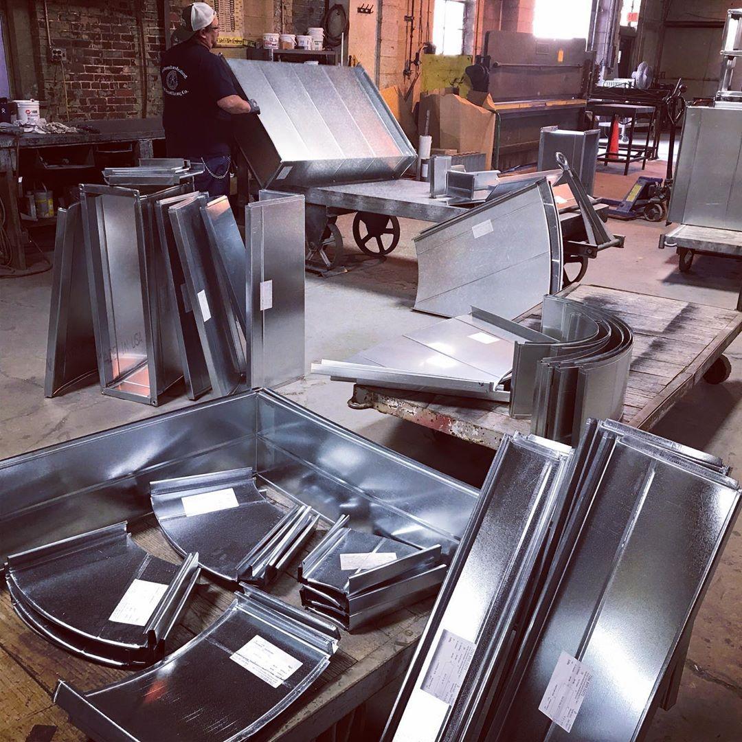Columbus Heating Ventilating On Instagram Work In Progress Customfabrication Industrialdesign Sheetmetalworker Local Columbus Ohio Instagram Sheet Metal