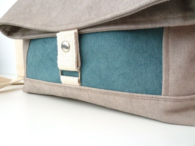 The Messenger bag is a very comfy fold over bag.  It is made of waxed cotton canvas, which makes it water resistant.  The strap is adjustable and made of cotton webbing.  Outside, you will...