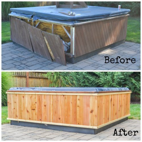How To Repair A Hot Tub Frame And Build A DIY Wrap. Our Hot Tub Was Looking  Sad And Neglected, So We Repaired And Build A New Shell For It Over The ...