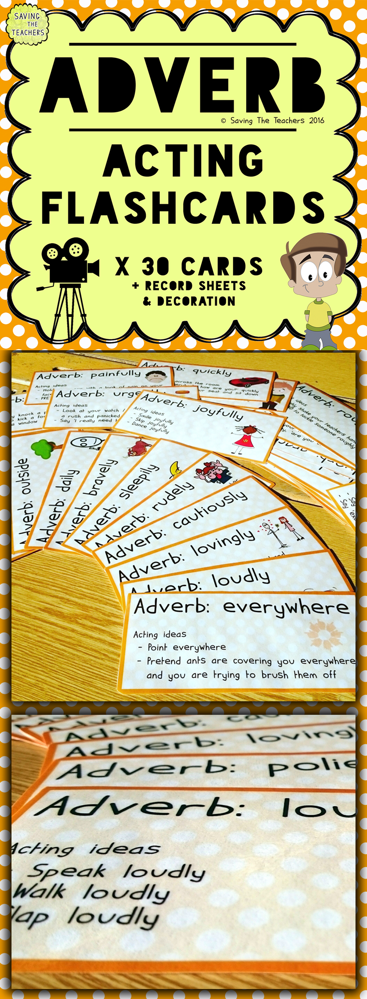 adverb acting game | tpt resources that give | pinterest | adverbs