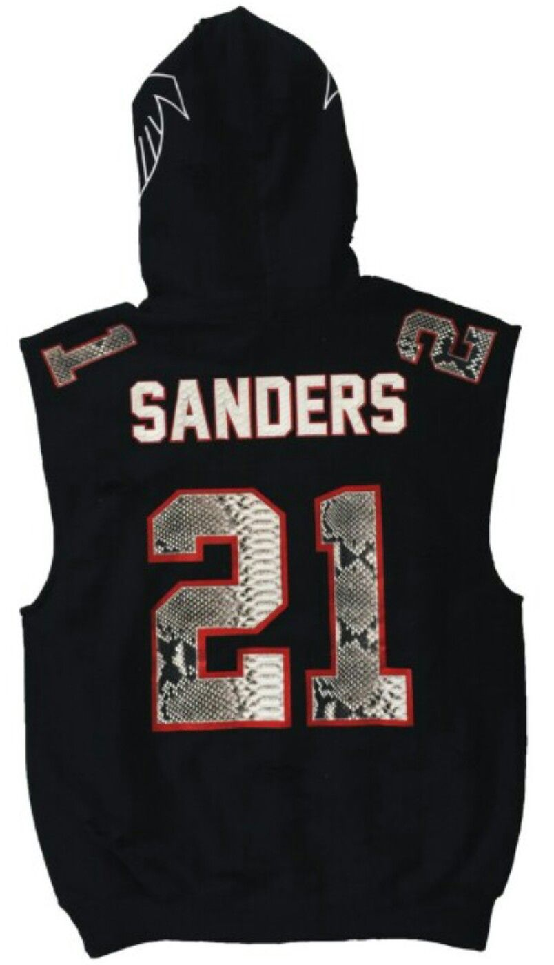 meet fd493 6e8d7 Atlanta Falcons Deion Sanders Jersey Hoodie by RENZO CARDONI ...