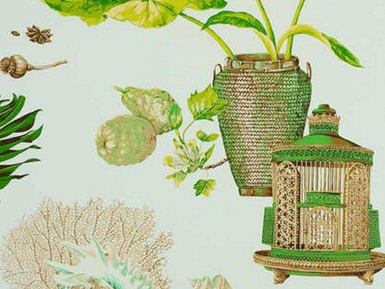papier peint jamaica papier peint collection boussac by pierre frey tissus pinterest. Black Bedroom Furniture Sets. Home Design Ideas