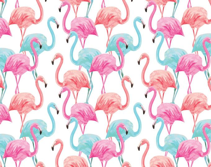 Flamingo Wrapping Paper Sheet Flamingo Palm Leaf Gift Wrap Etsy