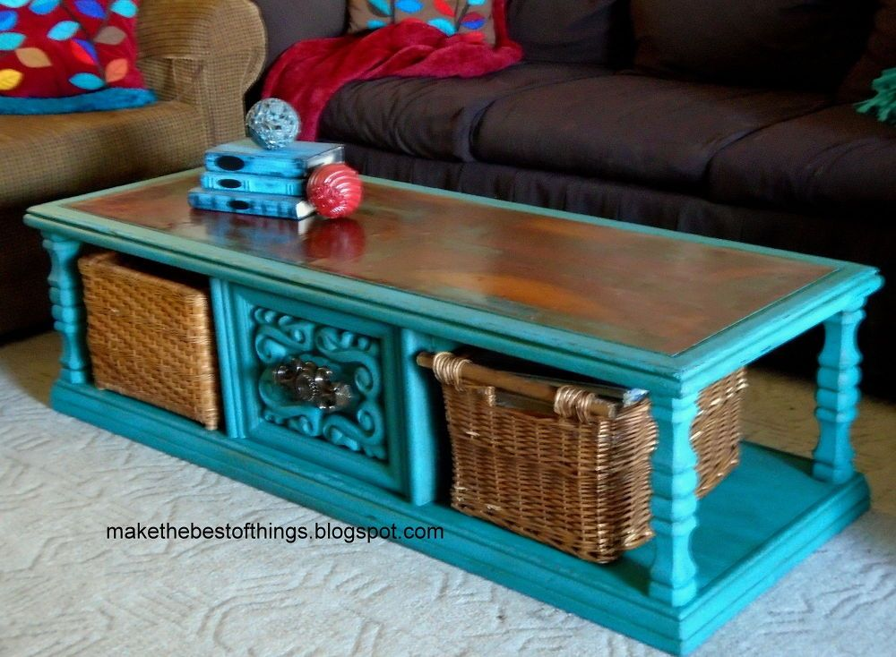 Diy Turquoise Chalk Paint Coffee Table Chalk Paint Coffee Table