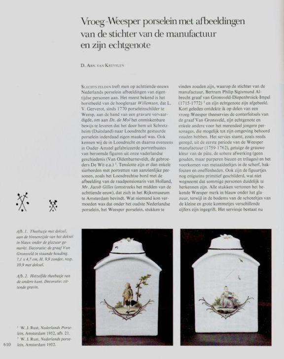 Dutch porcelain from Weesp...