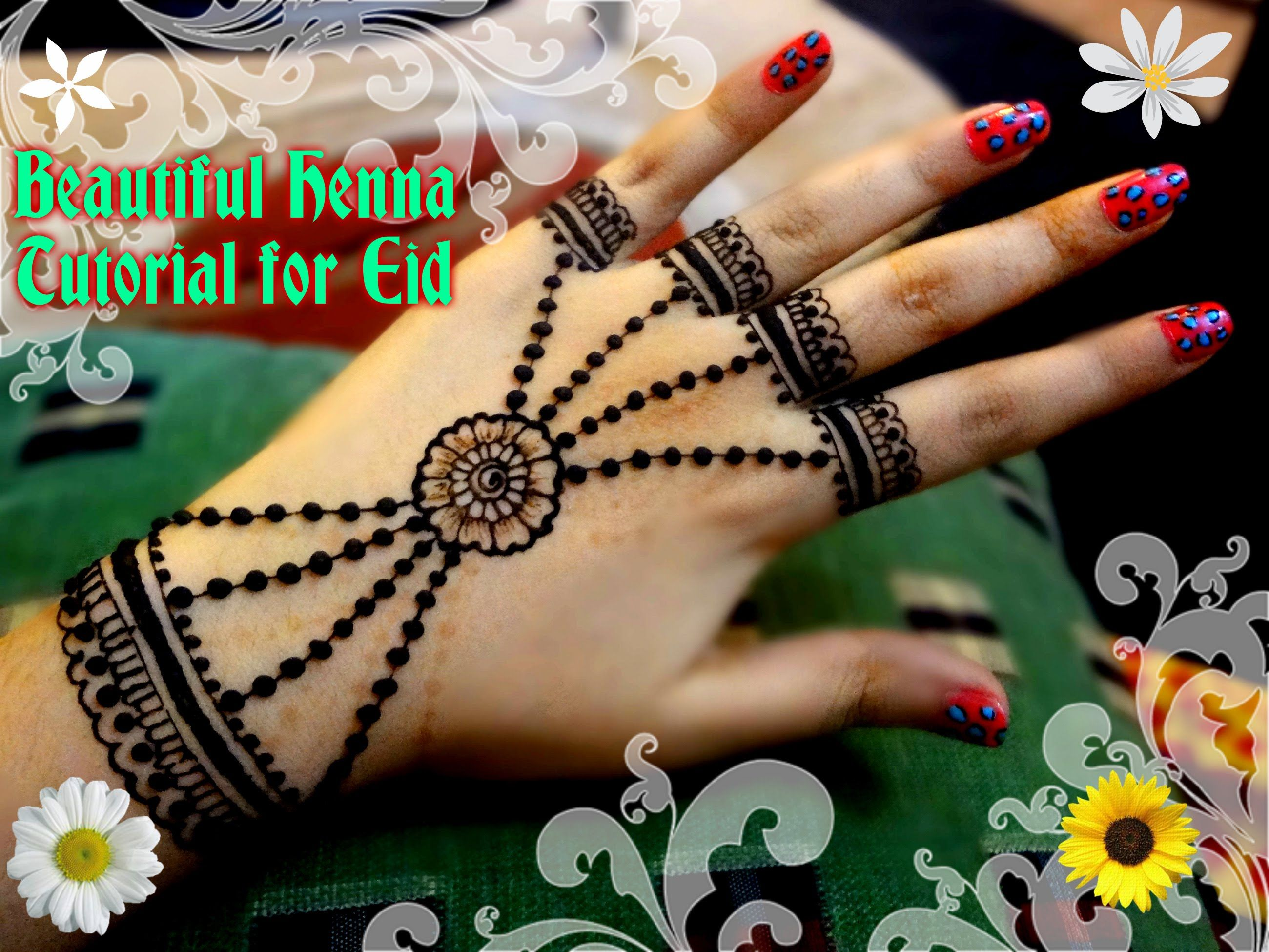 Easy Mehndi Tutorial : Easy diy best and beautiful ornamental jewellery henna mehndi