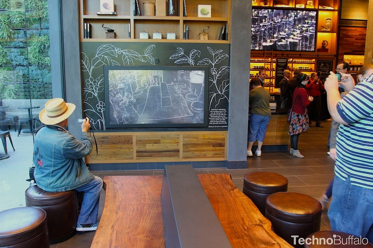 Starbucks Unveils New Interactive Display at Downtown